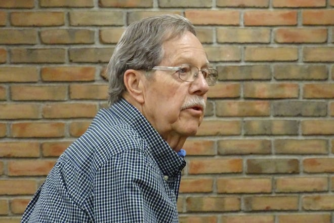 Joe Armbruster speaks before Bucyrus City Council on behalf of the Schines Art Park committee in May 2019. Armbruster has been named 2020 Outstanding Senior Citizen for Crawford County.