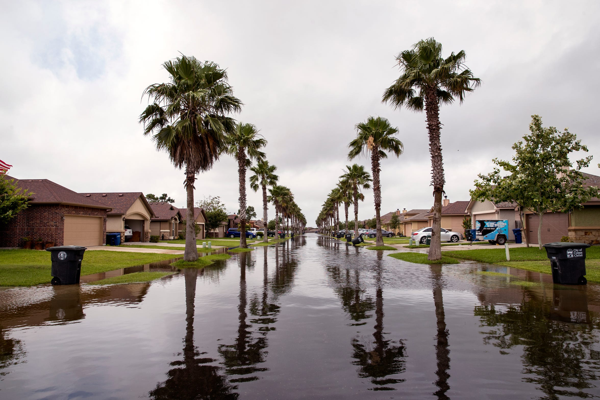 Date Palm Drive in Flour Bluff was flooded following heavy rains on Friday, May 10, 2019.
