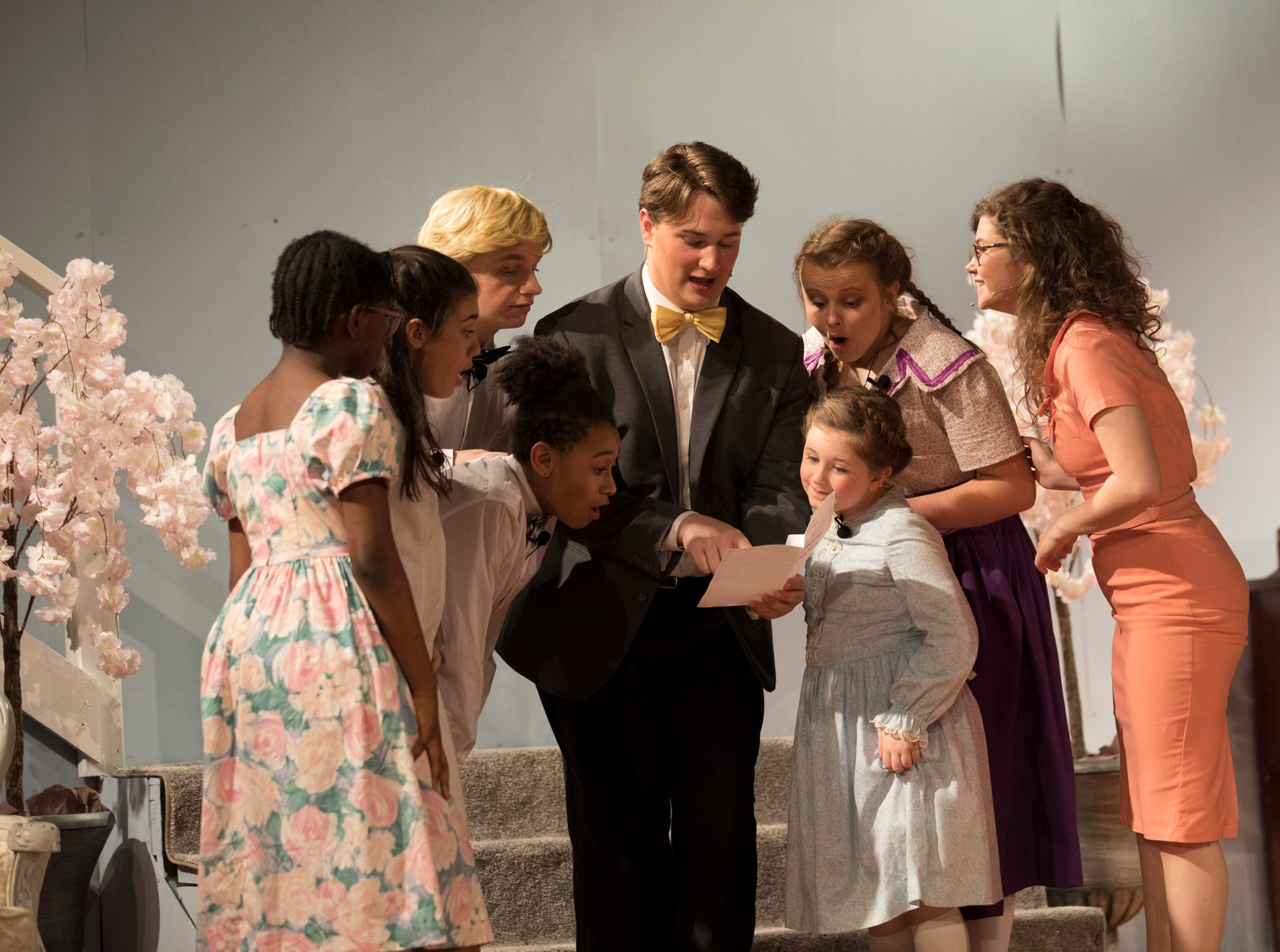 The von Trapp children become overjoyed after seeing they have been included to sing in the Kaltzberg Festival by Captain von Trapp's friend Max Detweiler, played by Seth Truman, who is a music agent and producer.