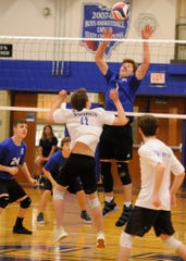 The Chillicothe boys' volleyball team defeated Miamisburg 3-0 Thursday night at Chillicothe High School on May 9, 2019.