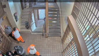 This video contains graphic content of two inmates attacking and stabbing a correctional officer at Southern Ohio Correctional Facility in Lucasville.