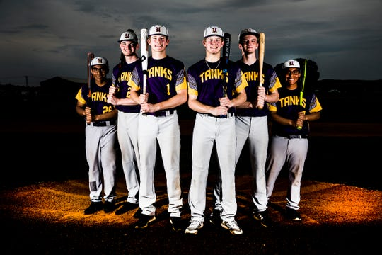 The Unioto baseball team has utilized the twin connection to become one of the top teams in the area. (L-R) Jason Shuman, Jeremy Lambert, Carson DeBord, Cameron DeBord, Joshua Lambert, and James Shuman.