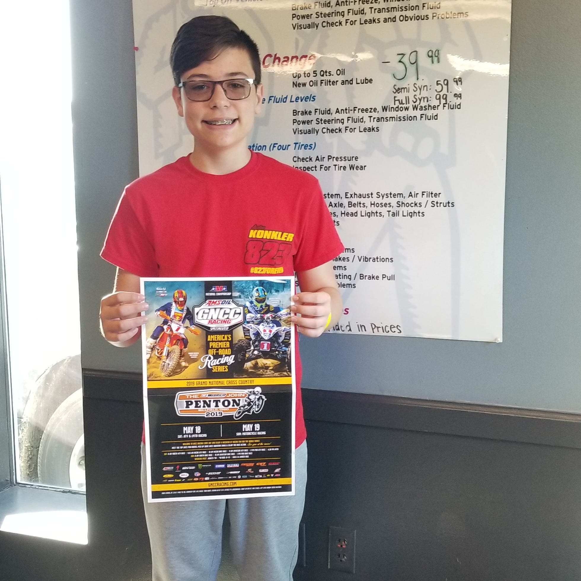 Zane Trace 8th grader competing in national off-road race