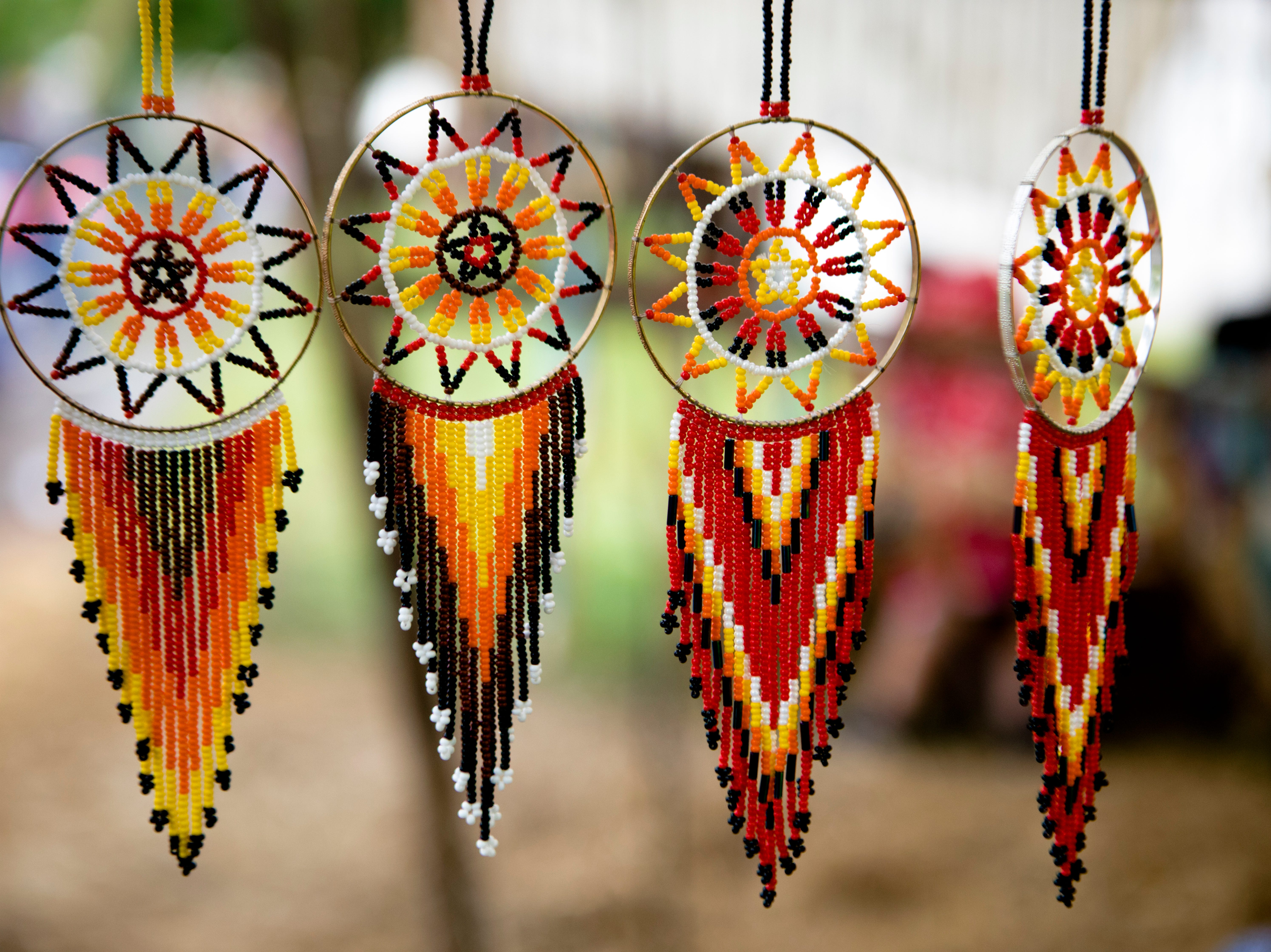 Dream catchers for sail in a tent at the 50th annual Appalachian Festival on Friday, May 10, 2019, At Coney Island in Cincinnati.