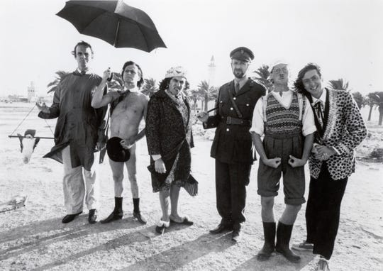 "Cast members of the original ""Monty Python's Flying Circus"" are, from left,  John Cleese, Terry Gilliam, Terry Jones, Graham Chapman, Michael Palin and Eric Idle."