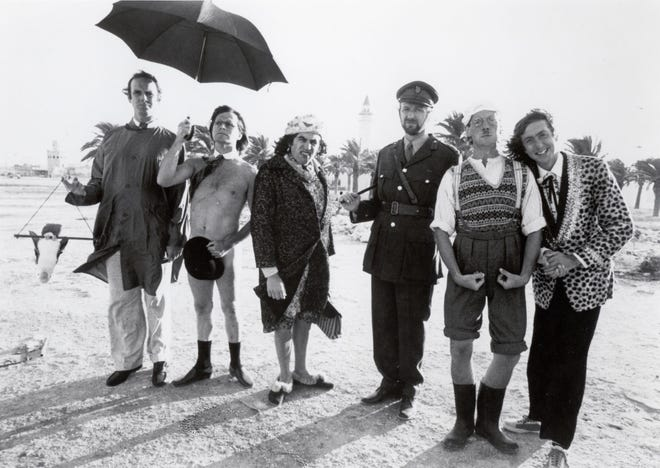 """Cast members of the original """"Monty Python's Flying Circus"""" are, from left,  John Cleese, Terry Gilliam, Terry Jones, Graham Chapman, Michael Palin and Eric Idle."""