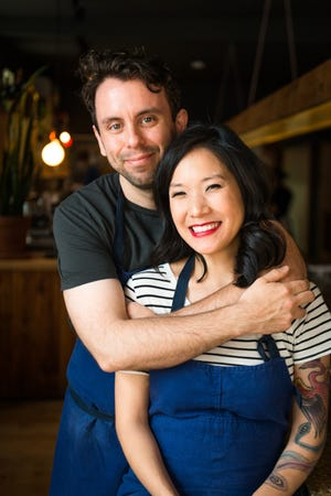 Johnny Clark and Beverly Kim of Parchute in Chicago, winners of Best Chef: Great Lakes James Beard Award