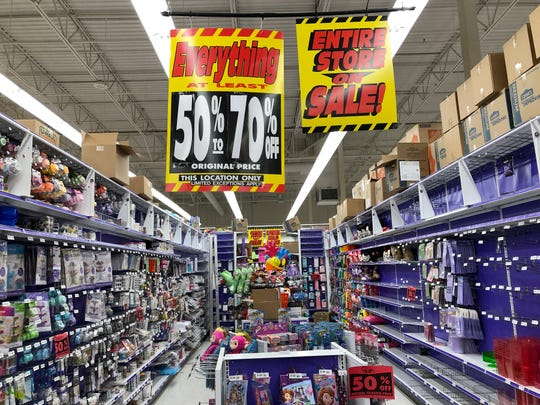 The Party City store in Randolph will close.