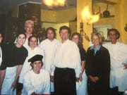 Johnny clar, second from left in back row, when he worked briefly at La Petite Pierre in Madeira