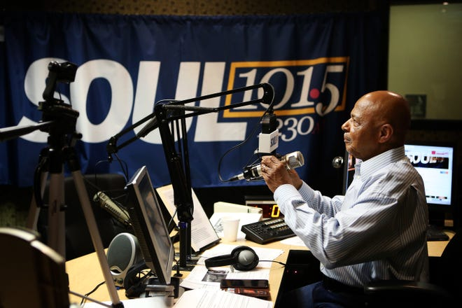Lincoln Ware prepares to go back on air after an ad break during his show on 101.5 Soul on Friday, May 3. The Lincoln Ware Show is weekdays from 10am til 12pm.
