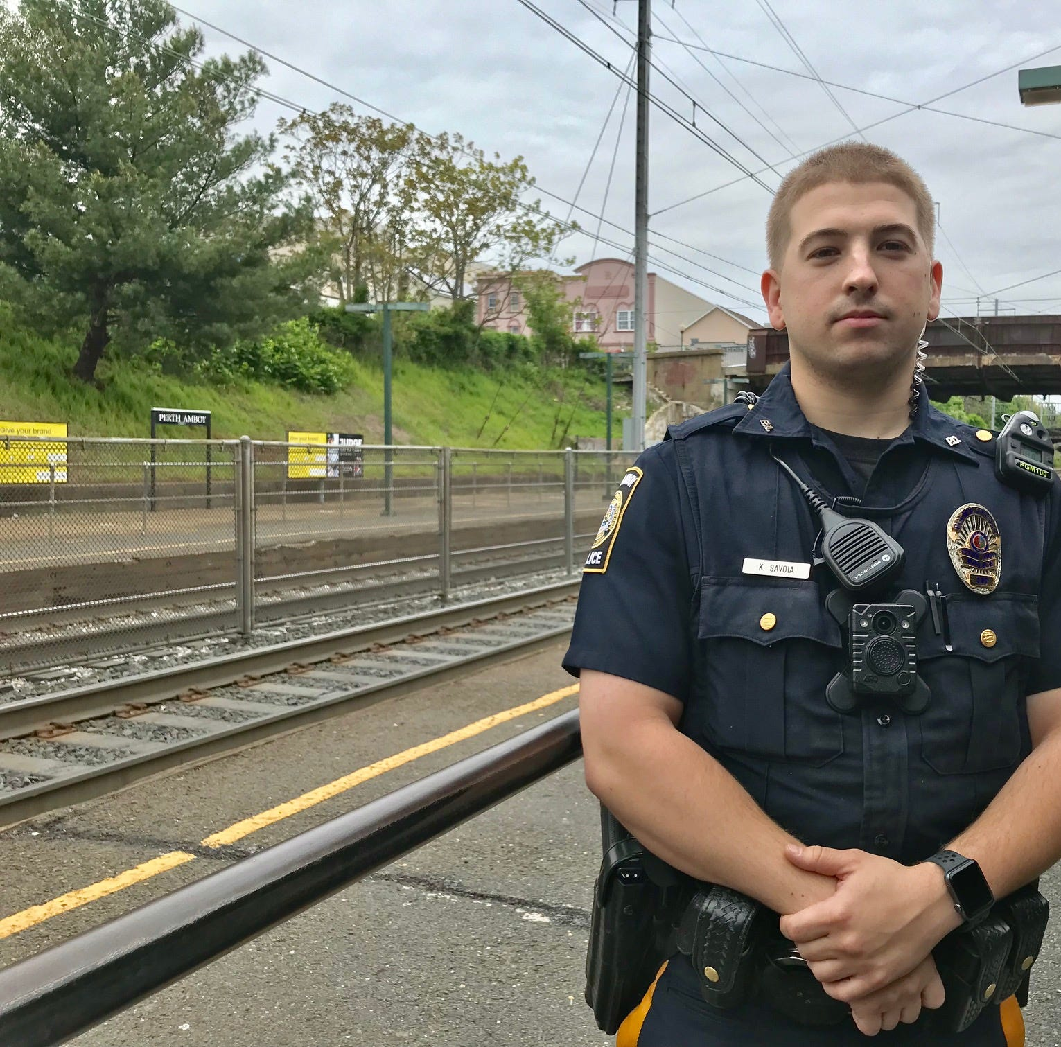 Perth Amboy police officer to be honored for rescuing sleeping man from train tracks