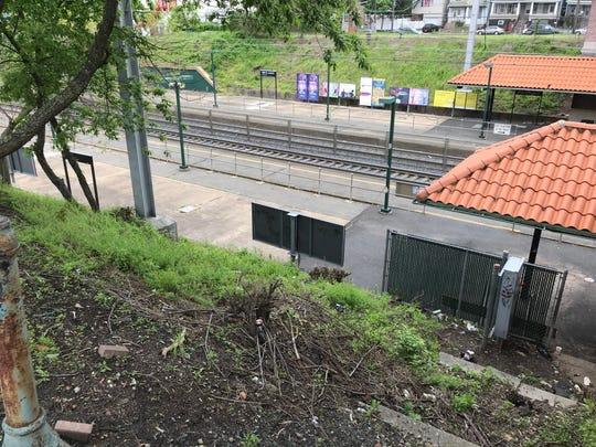 The tracks along the Perth Amboy Train Station