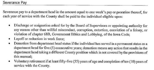 Polk County's new director severance