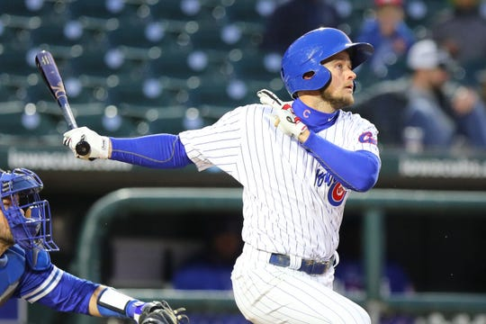 Iowa Cubs outfielder Donnie Dewees has had a strong start to the season.