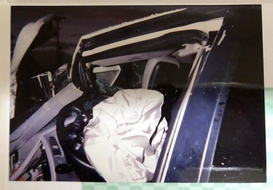 On Jan. 13, 1997, an airbag saved an 8-month pregnant Terri Vachher when the Ford Explorer SUV slammed head-on into the trailer of a semi-truck in Irvine, California. Two days later she gave birth to her son.