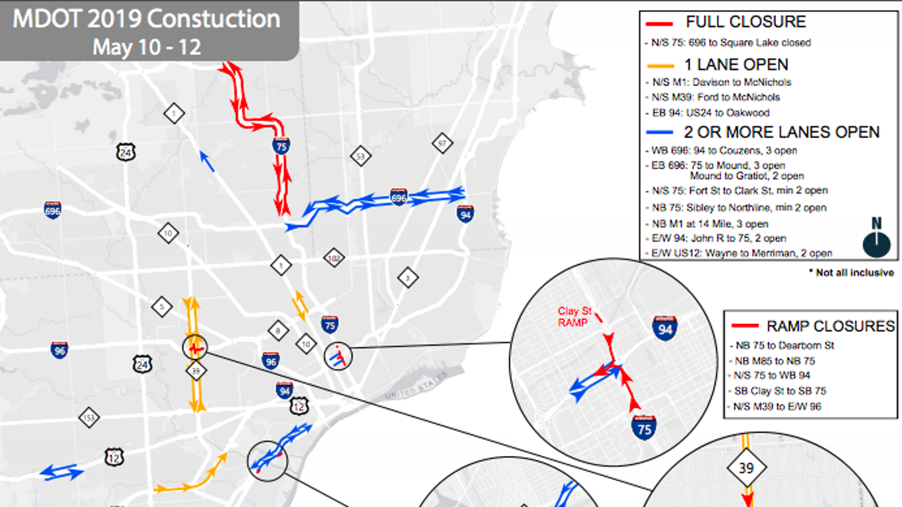 MDOT Construction: Large Stretch Of I-75 Closed This Weekend