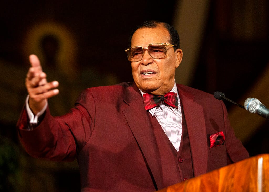 Minister Louis Farrakhan, of the Nation of Islam, speaks at Saint Sabina Church in Chicago on Thursday night, May 9, 2019.