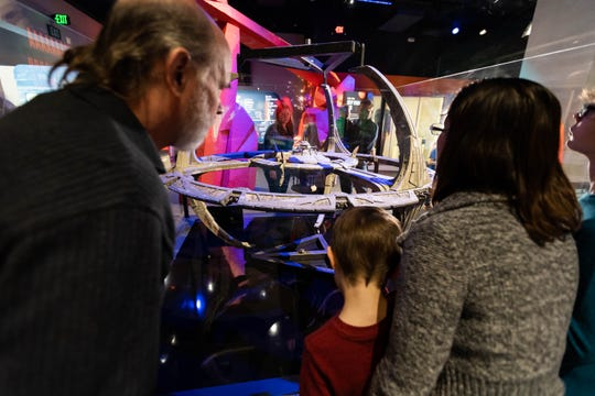 "Spaceship models are some of the coolest artifacts in ""Star Trek: Exploring New Worlds"" at the Henry Ford Museum."