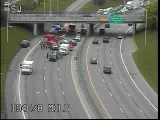 Eastbound Interstate 94 was closed for about an hour due to a crash.