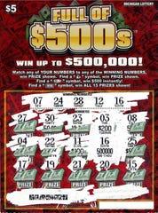 Genesee County woman's winning lottery ticket.
