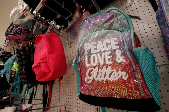 Backpacks for sale in Pittsburgh.