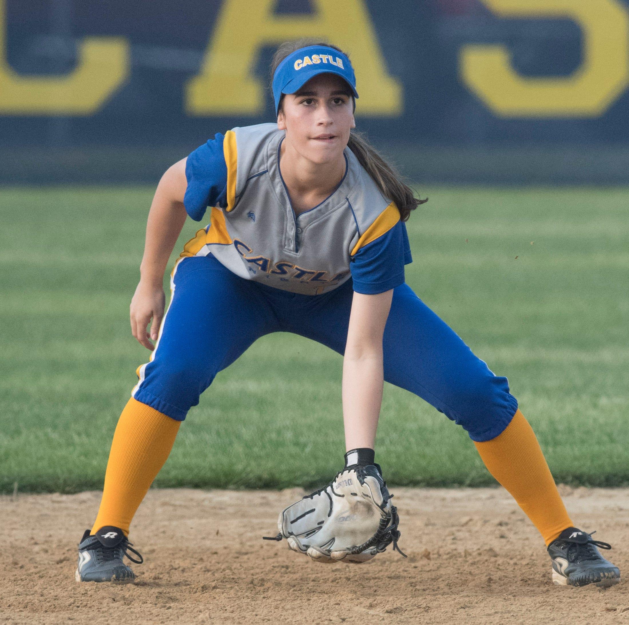 Ella Bassett provides versatility around the diamond for Castle softball