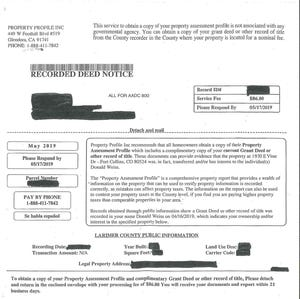 Here's what the scam mailer looks like, but beware that companies often change wording on mailers to evade discovery.