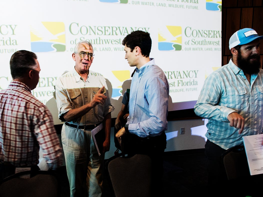 U.S Rep. Francis Rooney held a public meeting about water quality issues at the Conservancy of Southwest Florida in Naples on Friday May 10, 2019. The meeting was held with water quality stakeholders and water quality advocates