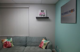 Conversation is optional at The Cuddle Pros, a new business that opened earlier this month in Fort Myers.
