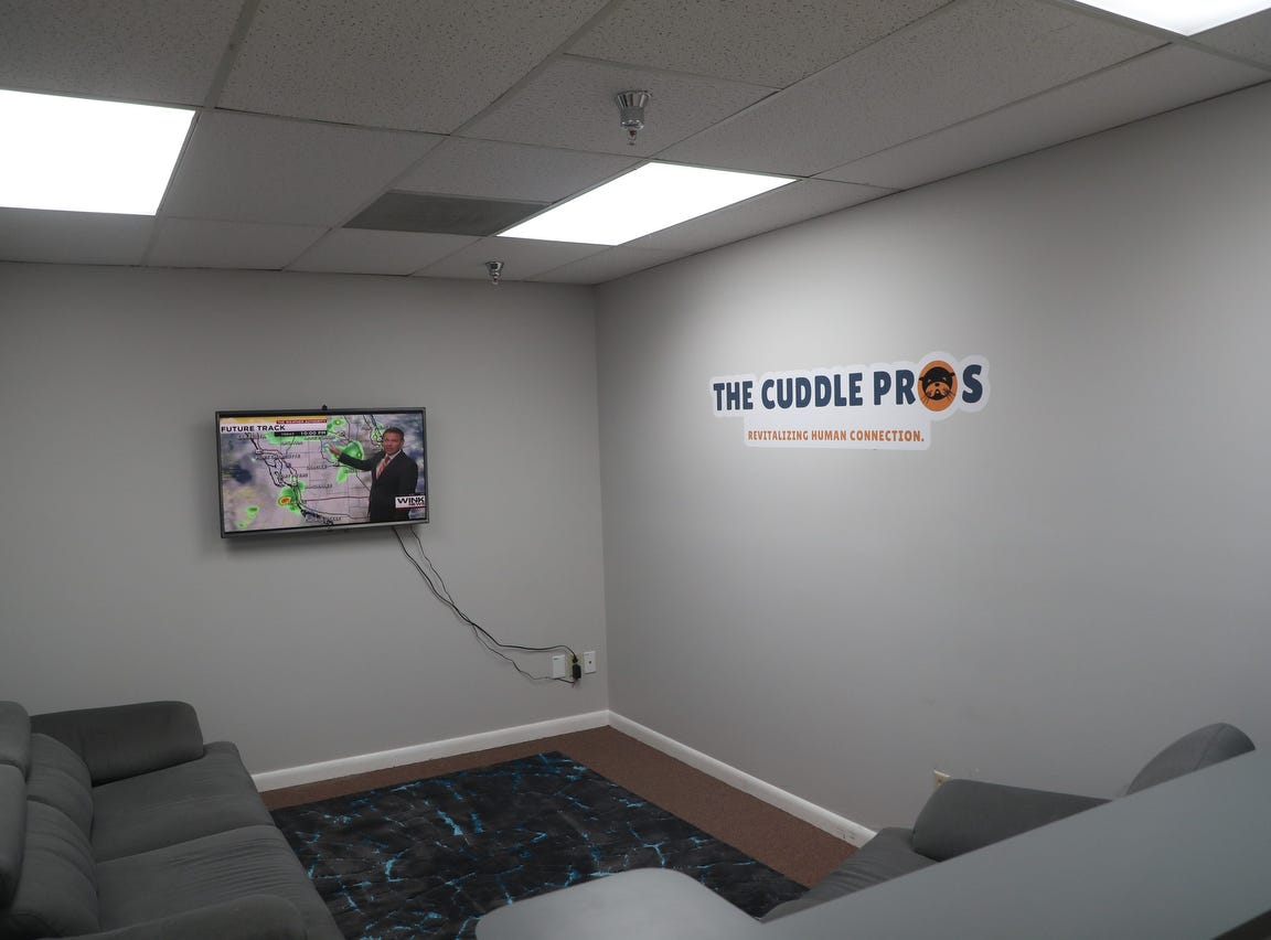 Cuddle Pros in Fort Myers is offering professional cuddling services. Clients have to go through a consultation and set up appointments. The services vary according to what the client is comfortable with, but it is a purely platonic service says owner Genesis Burroughs