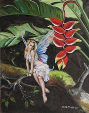 Martha Dodd shows her fairy-inspired paintings this month at DAAS CO-OP gallery.
