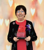 Janet Glime of Coleman was presented with the Leadership Award at the 31st annual WPS Volunteer Awards in Green Bay on April 18.