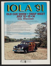 The Iola Car Show's 1991 Poster evokes feelings of nostalgia for longtime attendees.