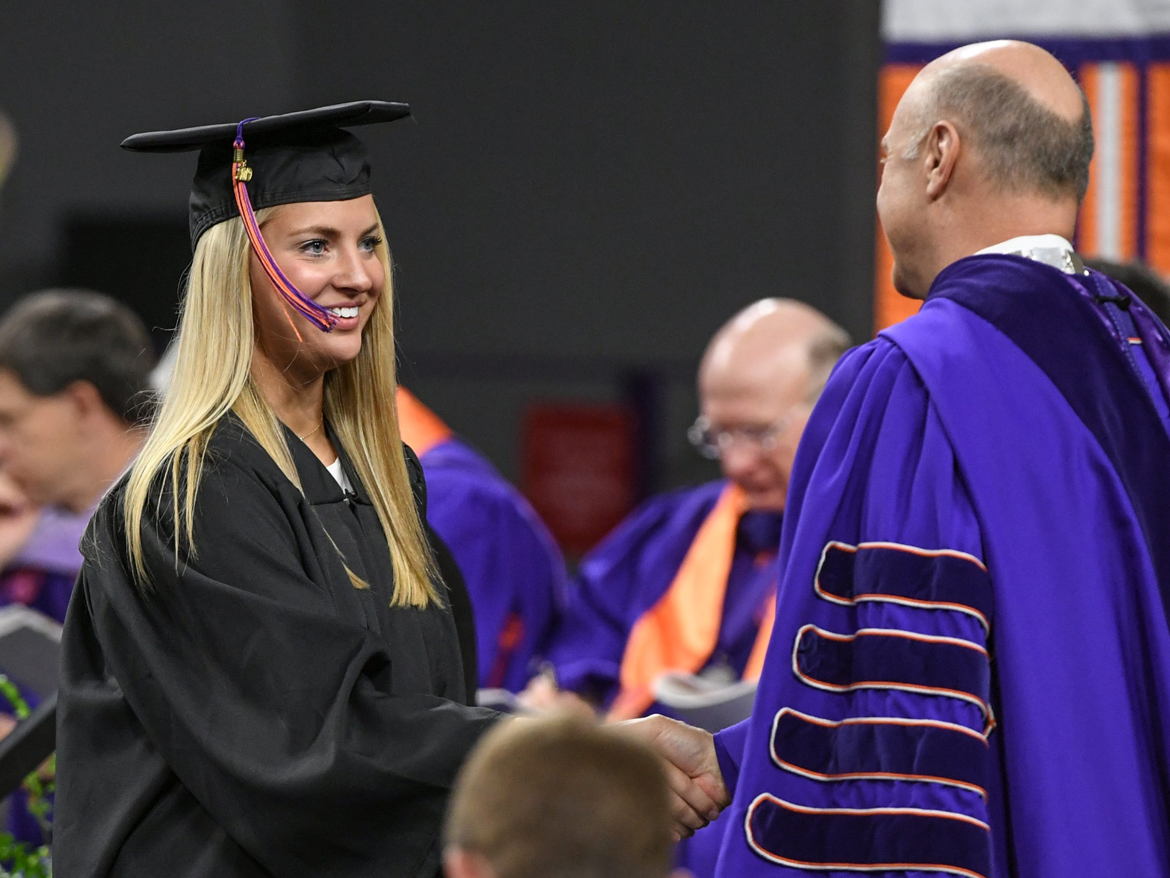 Caroline Roberts of Anderson earned a Bachelor of Science in Agribusiness during Clemson University commencement ceremonies in Littlejohn Coliseum in Clemson Friday, May 10, 2019.
