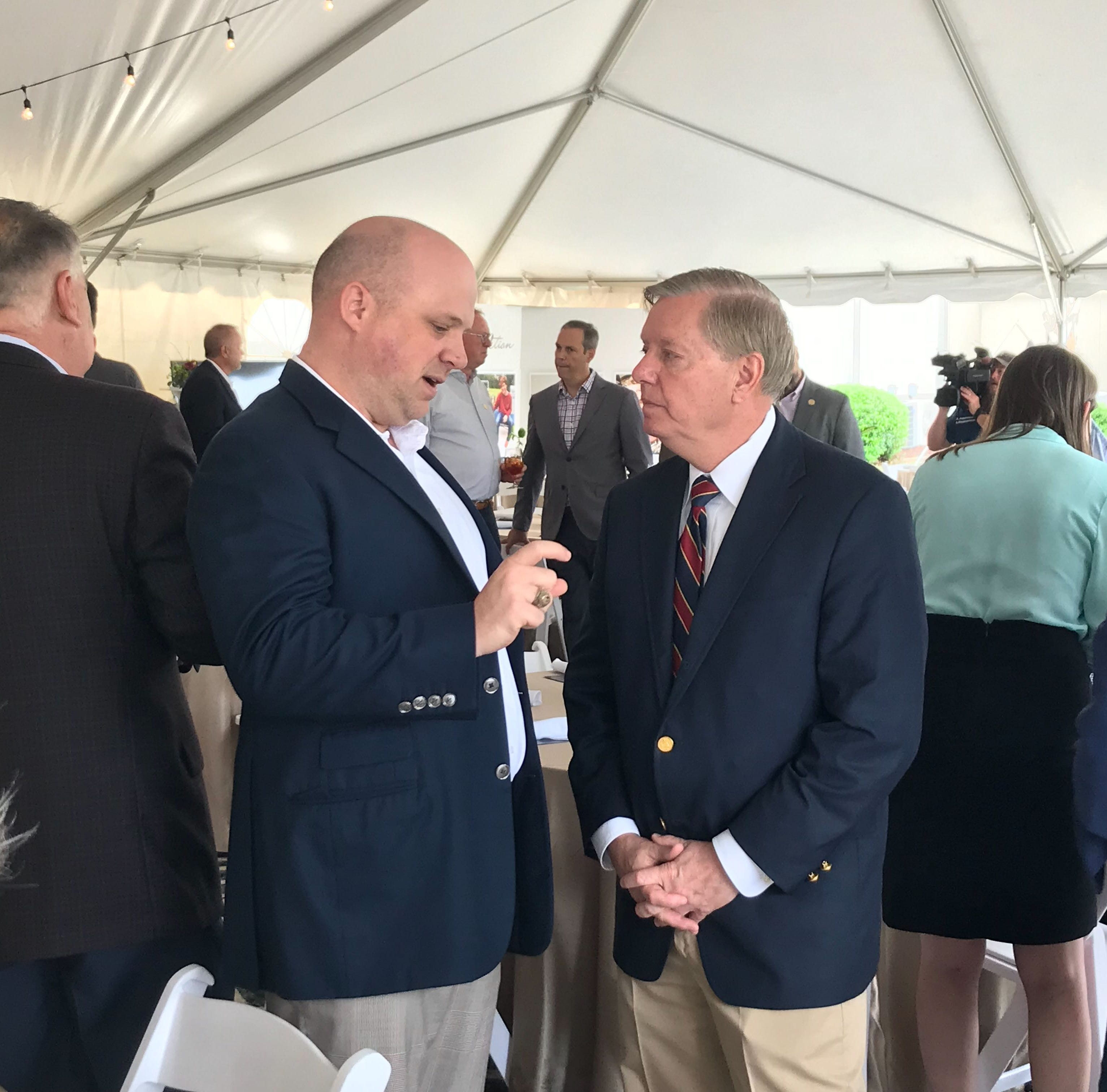 Speaking in Anderson, Sen. Lindsey Graham calls President Trump's China tariffs justified