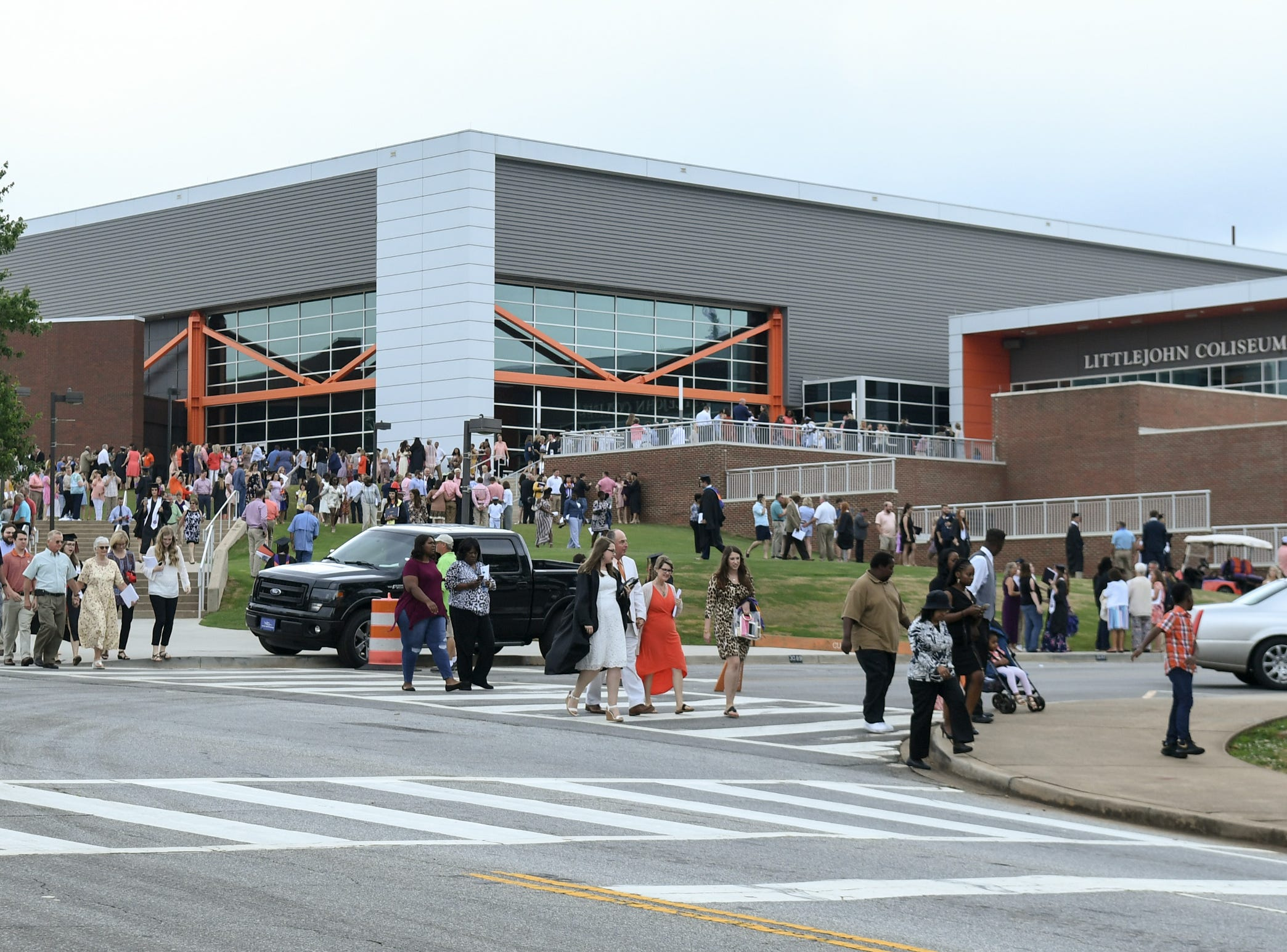 People leave after Clemson University commencement ceremonies in Littlejohn Coliseum in Clemson Friday, May 10, 2019.