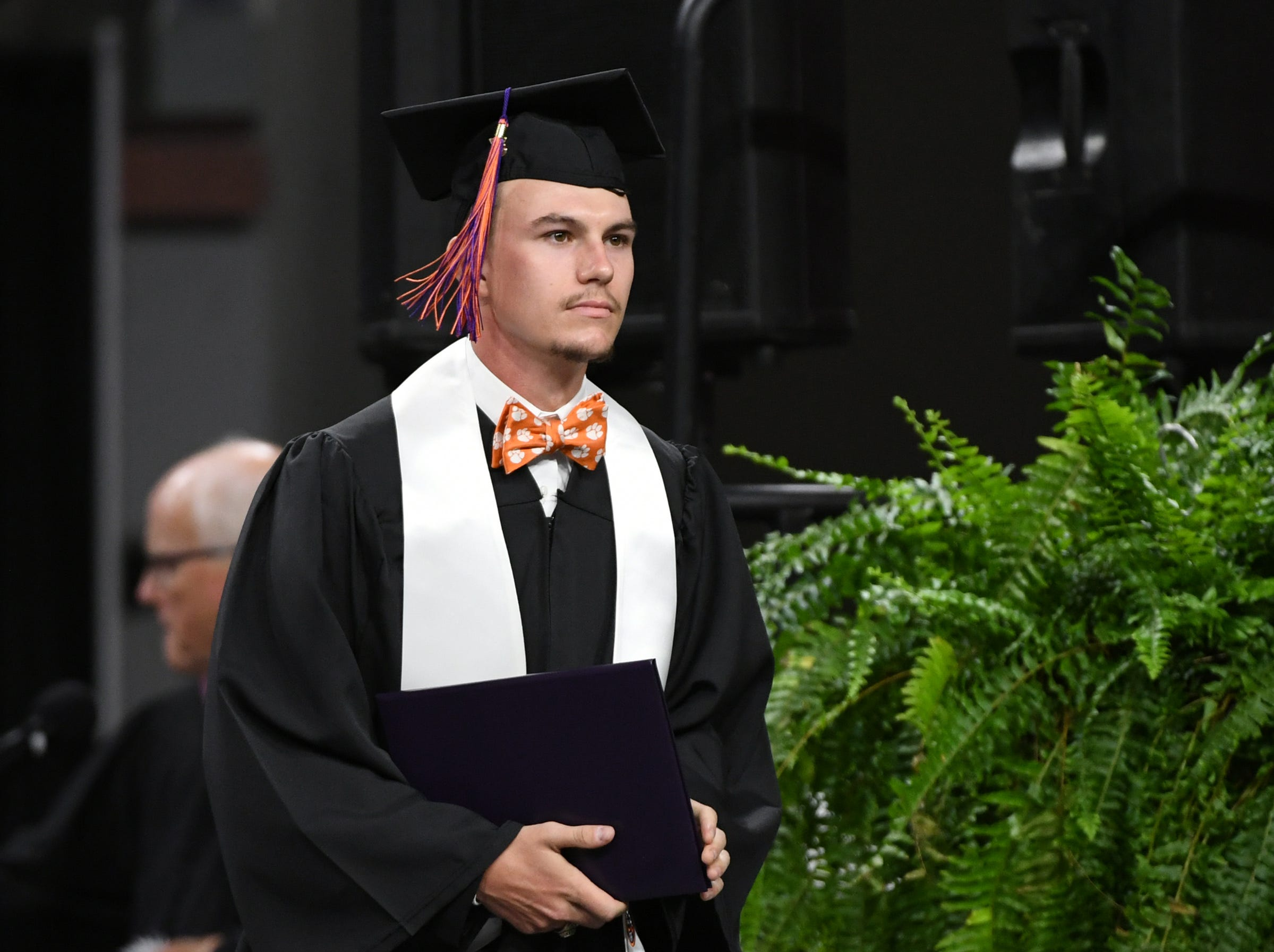 Luke Furher of Liberty earned a Bachelor of Science in Agricultural Mechanization and Business during Clemson University commencement ceremonies in Littlejohn Coliseum in Clemson Friday, May 10, 2019.