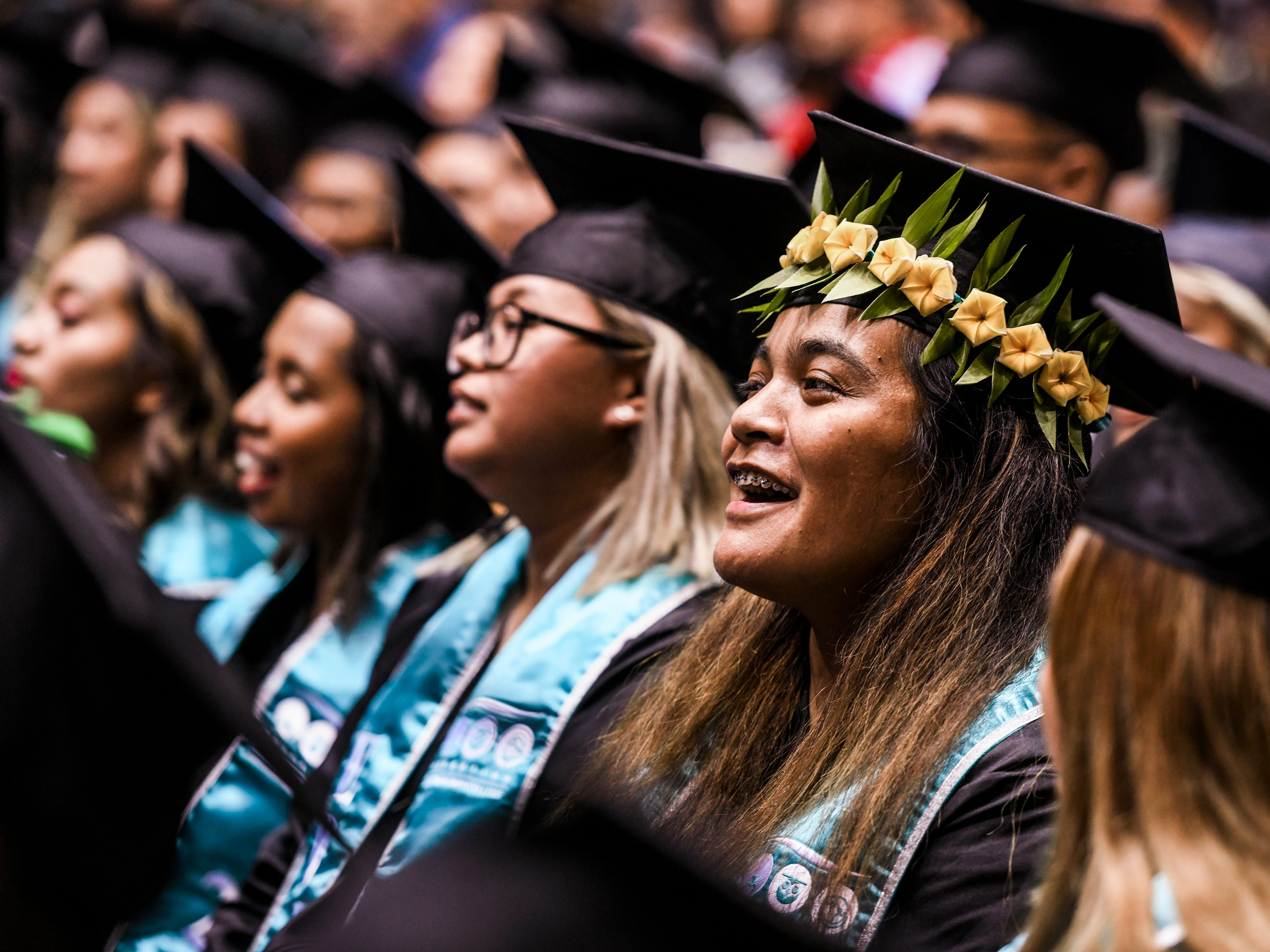 The Guam Community College celebrated the achievements of 357 graduates during the school's commencement exercise at the University of Guam in Mangilao on Friday, May 10, 2019. The college conferred a total of 435 degrees, certificates, and/or diplomas at the ceremony attended by hundreds of family members, friends and other well wishers.
