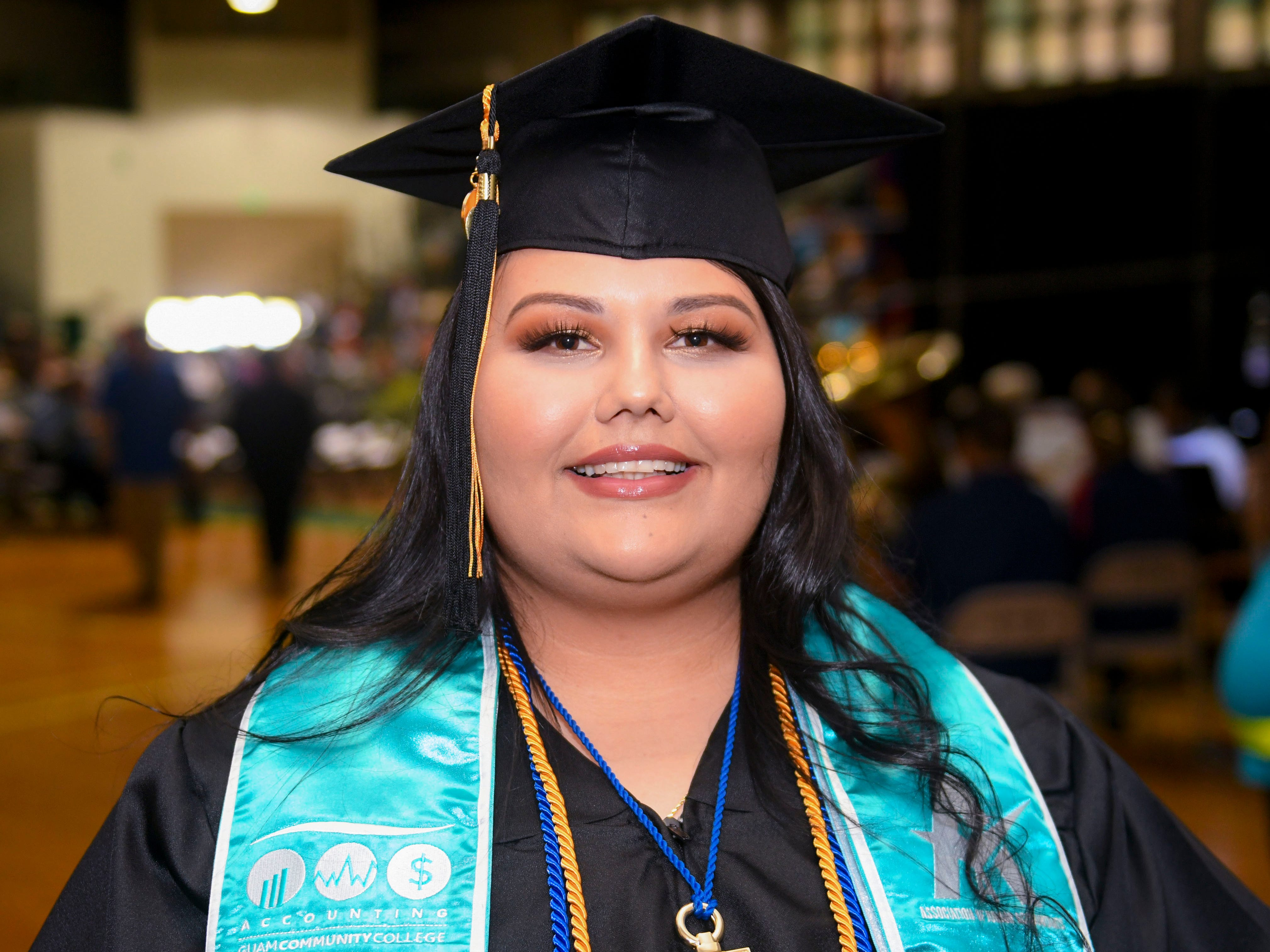 Jaime Lynn Freitas was recognized as Guam Community College's most distinguished graduate during the institution's commencement exercise at the University of Guam in Mangilao on Friday, May 10, 2019. The college conferred a total of 435 degrees, certificates, and/or diplomas to 357 graduate celebrated at the ceremony, attended by hundreds of family members, friends and other well wishers.
