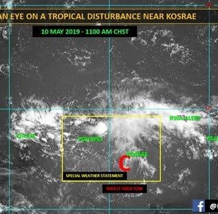 National Weather Service Guam is monitoring a tropical disturbance near Kosrae