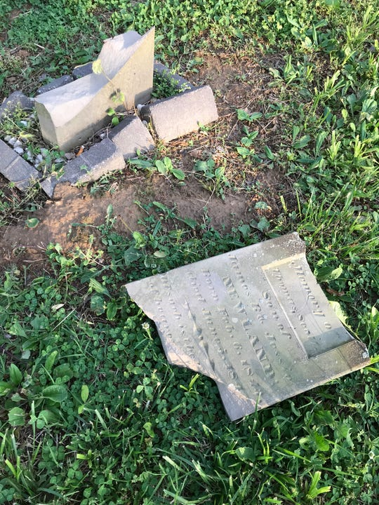 The grave marker of Thomas Newland had survived many decades unscathed, until vandals struck last year.