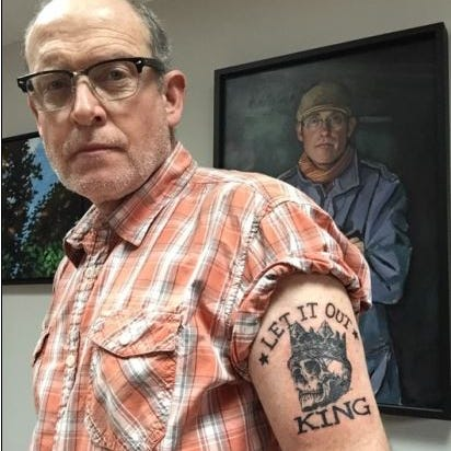 IndyStar 'Let It Out King' makes it official with giant, biceps-spanning tattoo