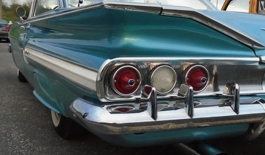 Terry Protexter of Iowa City owns this light blue 1960 Chevy Impala displayed at the recent Classy Chassy Cruiser's car show in Coralville