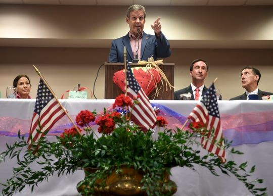 Tennessee Gov. Bill Lee was the keynote speaker for the 82nd annual West Tennessee Strawberry Festival Governor's Luncheon, Friday, May 10, 2019 in Humboldt.
