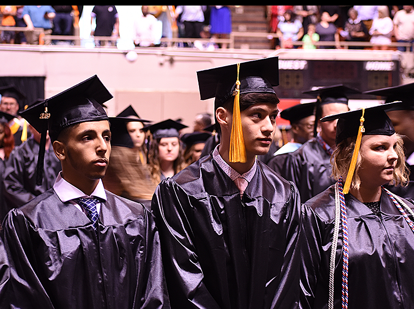 Moheeb Alaudi and Axel Adriano , Jackson-Central Merry Early College High School seniors, graduate from Jackson State Community College two weeks before their high school graduation.