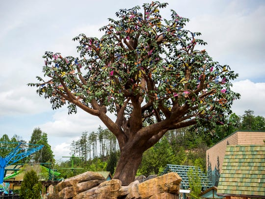 The Wildwood Tree in Dollywood's new Wildwood Grove expansion on Friday, May 10, 2019.