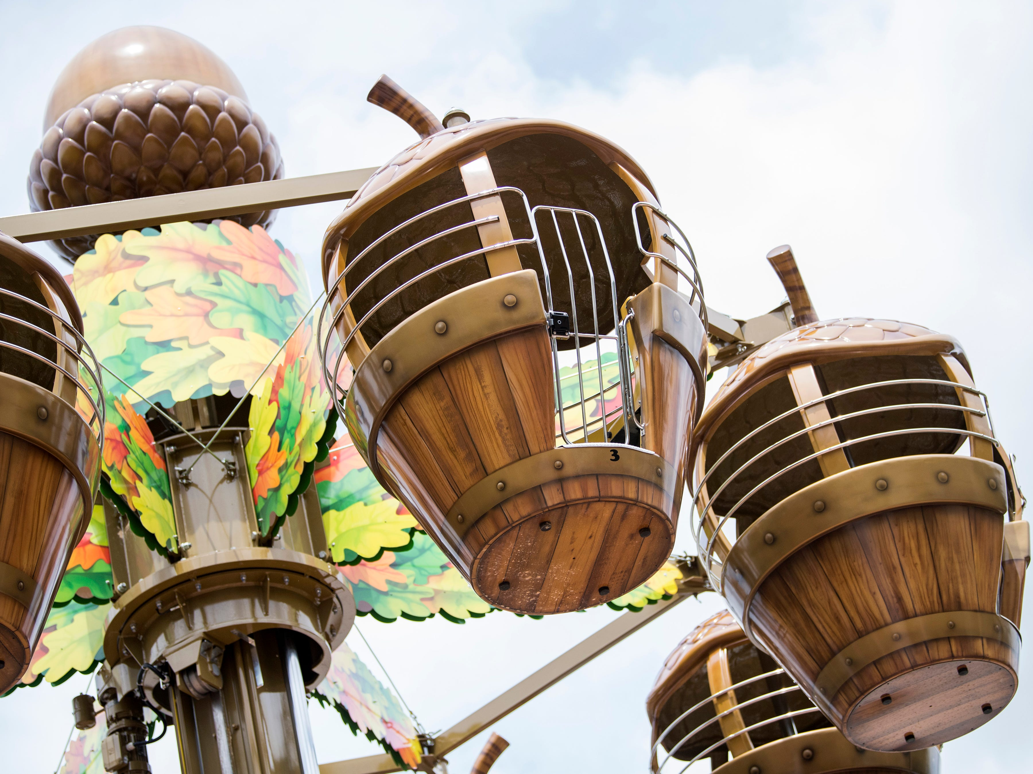 The Treetop Tower ride during the grand opening of Dollywood's new Wildwood Grove expansion on Friday, May 10, 2019.
