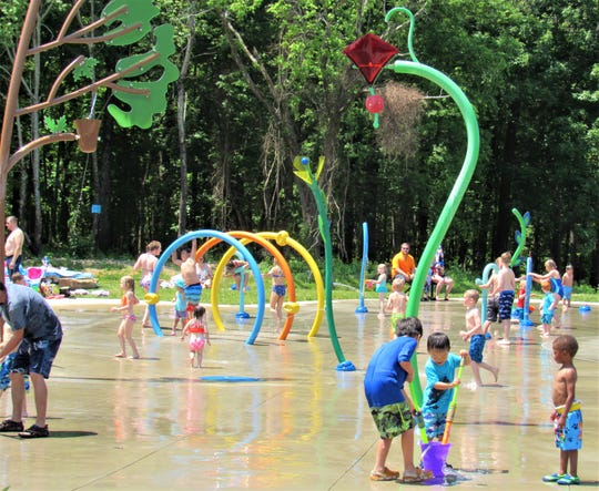 McFee Park's splash pad is monitored by the Town of Farragut.