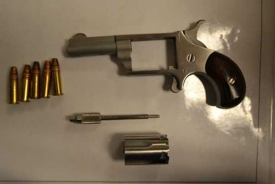 Transportation Security Administration agents found this gun in an airline passenger's carry-on bag Friday, May 10, 2019, at McGhee Tyson Airport.