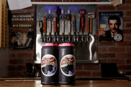 Original Recipe Bock cans are shown at Thieme and Wagner Brewery, Thursday, May 9, 2019, in Lafayette.